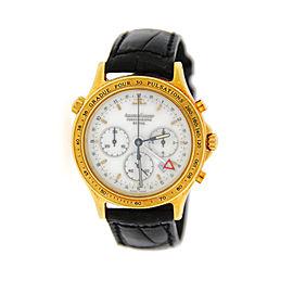 Jaeger Lecoultre 116.1.33 Reveil Heraion Chronograph 18K Yellow Gold Mens Watch