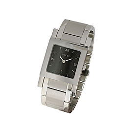 Gucci YA079303 Black Dial Stainless Steel Watch