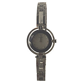 Bulova 96L159 Stainless Steel Metalized Rim Black Dial 23mm Womens Watch