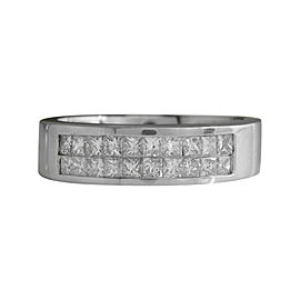 14K White Gold with 1.20ctw Diamond Ring Size 10.25