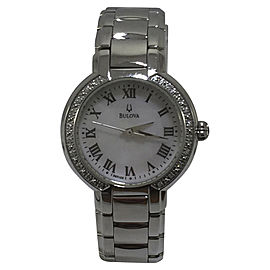 Bulova 96R159 Classic Stainless Steel Mother of Pearl Dial 27mm Womens Watch
