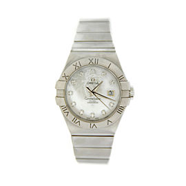 Omega 123.10.31.20.55.001 Constellation MOP Diamond Automatic Steel Womens Watch