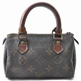 Louis Vuitton Monogram Mini Speedy Hand Bag Old Model