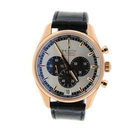 Zenith El Primero Striking 10th 18.2040.4052 Chronograph 18K Rose Gold Watch