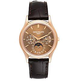 Patek Philippe Complicated Perpetual Calendar Rose Gold Mens Watch 5140R
