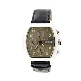 Van Der Bauwede Magnum Cal 35 Churchill Sterling Silver Automatic 40mm Mens Watch
