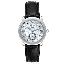 Rolex Cellini Cellinium Platinum Mother of Pearl Dial Mens Watch