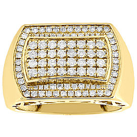 10K Yellow Gold with 1.00ct Diamond Band Ring Size 10