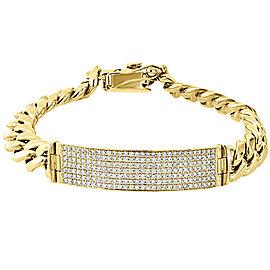 10K Yellow Gold 3.00ct. Diamond Cuban Link Bracelet