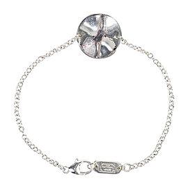 "Ippolita 925 Sterling Silver ""Wavy Disc"" Chain Station Bracelet"
