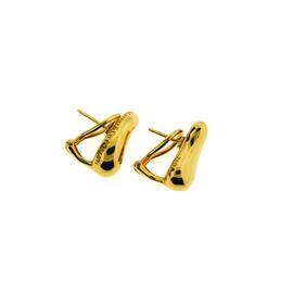Tiffany & Co. Elsa Peretti Bean 18K Yellow Gold Earrings