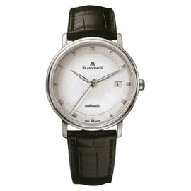 Blancpain Villeret 6223-1127-55B Stainless Steel & Leather Automatic 38mm Mens Watch