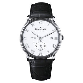 Blancpain Villeret Ultra Slim Power Reserve Date Stainless Steel & Leather 40mm Mens Watch