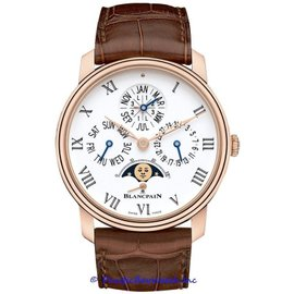 Blancpain Villeret Quantieme Perpetual 8 Days 18K Rose Gold 42mm Watch