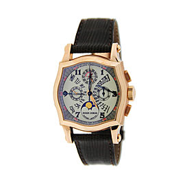 Roger Dubuis S34 5637 0 18K Rose Gold & Leather Manual 37.5mm Mens Watch