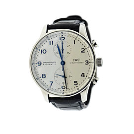 IWC Portuguese 3714 Chronograph Stainless Steel Automatic 41mm Mens Watch
