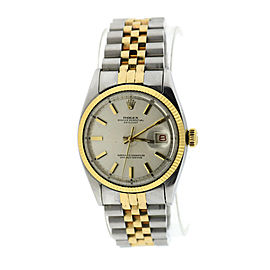 Rolex Oyster Perpetual Datejust 6105 Stainless Steel / Yellow Gold 35mm Mens Watch