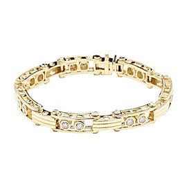 14K Yellow Gold & 3.35ctw Diamond Bracelet