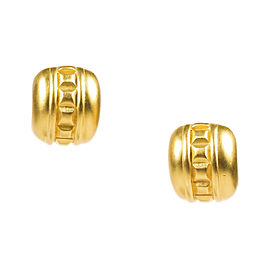Givenchy Matte Gold Tone Studded Clip On Huggie Earrings