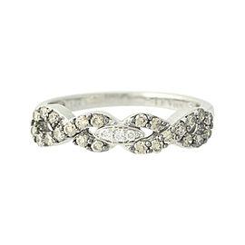 Le Vian 14K White Gold Chocolate & Vanilla .70ct. Diamond Ring Size 6.75
