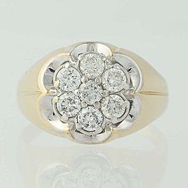 14K White Gold, 14K Yellow Gold Diamond Necklace Size 9mm