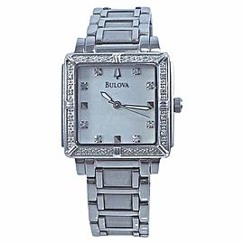 Bulova 96R107 Stainless Steel Mother Of Pearl Dial 26mm Womens Watch