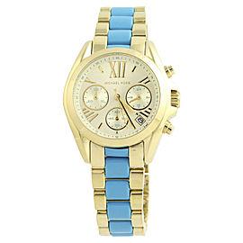 Michael Kors Mini Bradshaw MK-5908 Gold Plated Stainless Steel Quartz Womens Watch