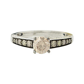 Le Vian 14K White Gold 1.02ct. Diamond Solitaire w/Accents Engagement Ring Size 7.25