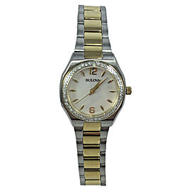 Bulova 98R204 Stainless Steel Mother of Pearl Dial 26mm Womens Watch