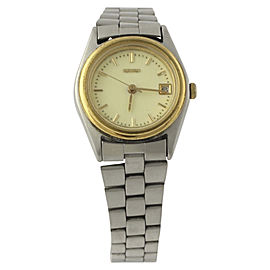 Seiko Stainless Steel & Gold Toned Quartz 23.6mm Womens Wristwatch