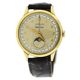 LeCoultre 486 10K Gold Plated & Leather Manual Vintage 35mm Mens Watch