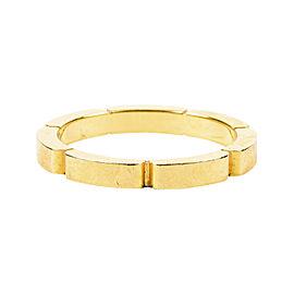Cartier Maillon Panthere 18K Yellow Gold Wedding Bang Ring Size 5.75