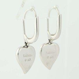 Kabana 14K White Gold Opal, Diamond Earrings