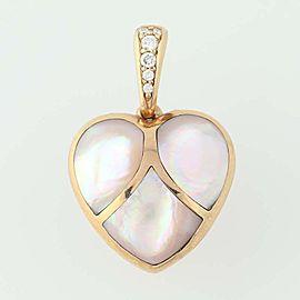 Kabana 14K Rose Gold Mother Of Pearl, Diamond, Pearl Pendant