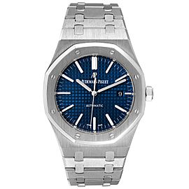 Audemars Piguet Royal Oak Blue Dial Steel Mens Watch 15400ST