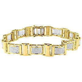 10K Yellow Gold 1.27ct Diamond Statement Link Bracelet