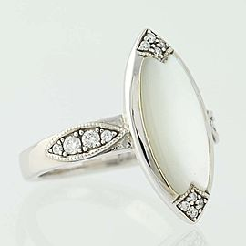 Kabana 14K White Gold Mother Of Pearl, Diamond, Pearl Ring Size 7