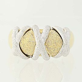 18K White Gold, 18K Yellow Gold Diamond Ring Size 10