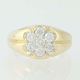 10K White Gold, 10K Yellow Gold Diamond Ring Size 9