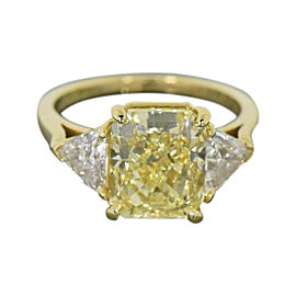 Van Cleef & Arpels 18K Yellow Gold with Diamond Engagement Ring Size 7.5