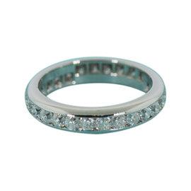 Tiffany & Co. Lucida 1.35ct Diamond Full Circle Platinum Band Size 5