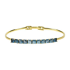 "Ippolita 18K Yellow Gold with Green Quartz ""Rock Candy"" Bangle Bracelet"