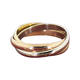 Cartier Trinity 18K Yellow, Rose & Yellow Gold Ring Size 5.75
