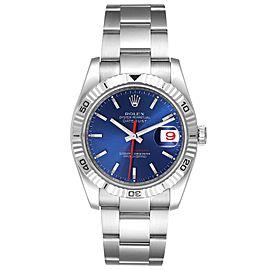 Rolex Datejust Turnograph Blue Dial Oyster Bracelet Steel Mens Watch 116264