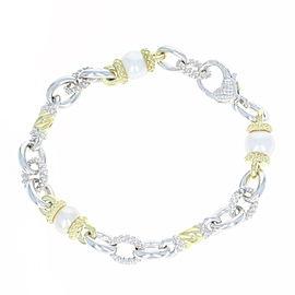 Judith Ripka 18K Yellow Gold, Sterling Silver Cultured Pearl Bracelet