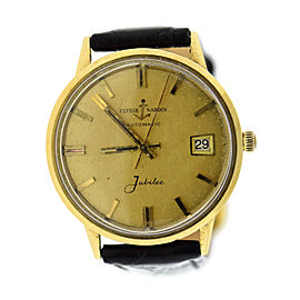Ulysse Nardin Jubilee 14K Yellow Gold & Leather Automatic 34.5mm Mens Watch