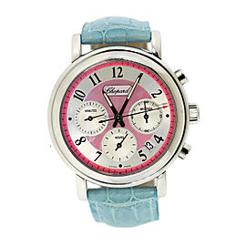 Chopard Mille Miglia 16/8331/11 Stainless Steel & Leather Pink Dial Automatic 39mm Womens Watch