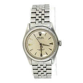 Rolex Oyster Perpetual 6107 Stainless Steel Automatic 34mm Mens Watch
