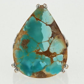 Sterling Silver Turquoise Ring Size 9.25
