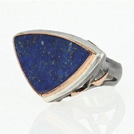 Sterling Silver Lapis Lazuli, Lapis Ring Size 7.25